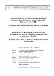 Berichte über den X. lnternationalen Kongress der ... - SGBF-SSMSR