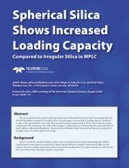 Spherical Silica Increases Loading Capacity - Isco