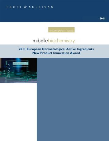 2011 European Dermatological Active Ingredients New Product ...