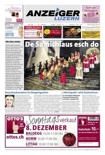 Anzeiger Luzern, Ausgabe 48, 4. Dezember 2013