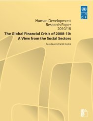 Human Development Research Paper 2010/18 The Global ...