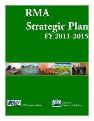 Strategic Plan - Risk Management Agency - US Department of ...