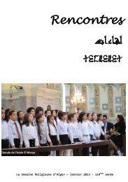 Janvier 2013 - Église Catholique d'Algérie