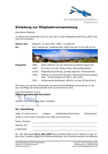 einladung traktanden freizeitanlage wädenswil - einladung gv 2013