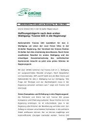 Yvonne Gilli in die Regierung! - Grüne Kanton St. Gallen