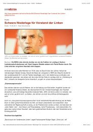 Schwere Niederlage für Vorstand der Linken - Sagel, Rüdiger (Die ...