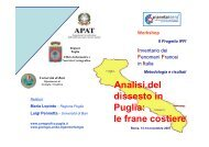 Analisi del dissesto in Puglia: le frane costiere - Ispra