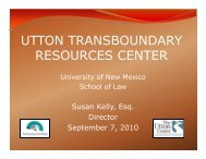 Utton Transboundary Resources Center - University of New Mexico