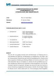 landeskrankenhaus bludenz jahresbericht 2011 gynäkologie und ...