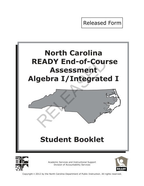EOC Algebra I/Integrated I - Public Schools of North Carolina