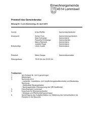 Protokoll vom 25. April 2013 - Gemeinde Lommiswil