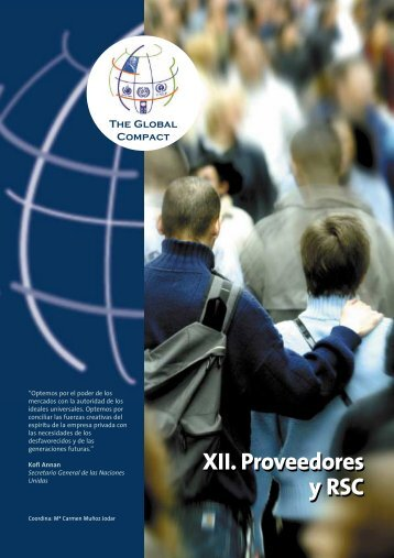 XII. Proveedores y RSC XII. Proveedores y RSC
