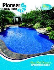 New Pool Operating Guide - Pioneer Family Pools