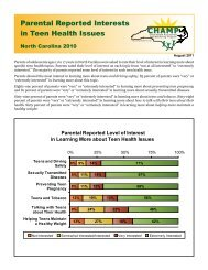 Parental Reported Interests in Teen Health Issues - State Center for ...