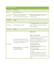 Freitag, 27. Mai 2011 - Verband für Bildgebende Diagnostik Österreich