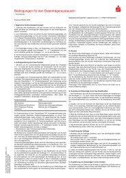 Bedingungen für den Datenträgeraustausch - Sparkasse Schweinfurt