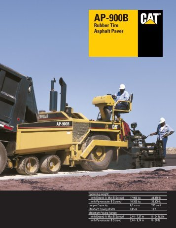 AP-900B Asphalt Paver Specalog - Kelly Tractor