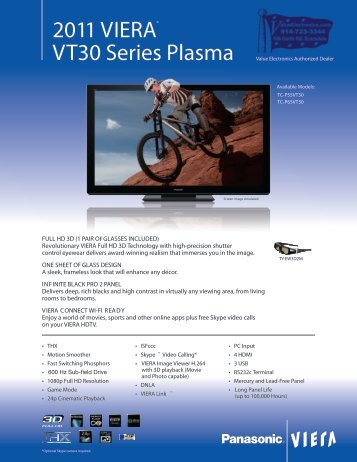 2011 VIERA® VT30 Series Plasma - Value Electronics