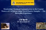 Human Health from the Ocean: Overview - Caribbean ...