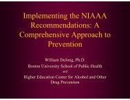 A Comprehensive Approach to Prevention - College Drinking ...