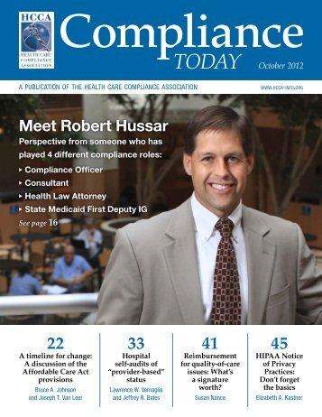 Meet Robert Hussar - Health Care Compliance Association