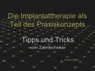 Tipps und Tricks - Ceradent Zahntechnisches Labor GmbH