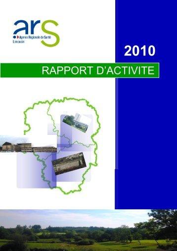 le rapport 2010 - ARS Limousin