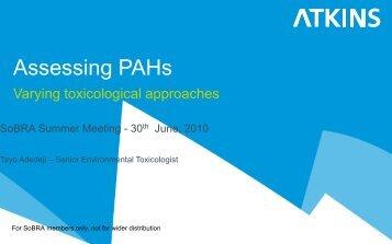Assessing PAHs - SoBRA