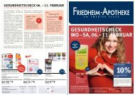 gesundheitscheck mo–sa, 06.–11. februar - Friedheim Apotheke