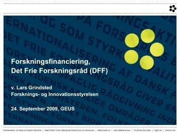 Forskningsfinanciering, Det Frie Forskningsråd - Forskningsplatformen