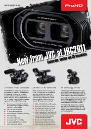 New from JVC at IBC2011 - AVIT-Systems A/S