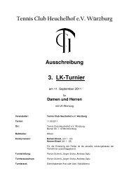 Tennis Club Heuchelhof e.V. Würzburg 3. LK-Turnier