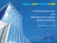 Ubika Research Capital Markets Services