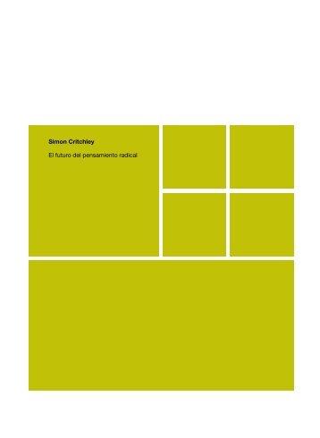 Simon Critchley El futuro del pensamiento radical - Estudios Visuales