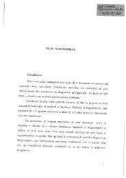 Plan managerial - Institutul Naţional al Magistraturii