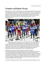 Premiere auf hohem Niveau - Skiclub Hinterzarten