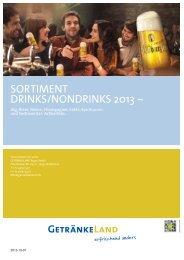 SORTIMENT DRINKS/NONDRINKS 2013 ~ - Getränkeland Waldbronn