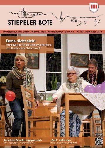 Stiepeler Bote 221 - November 2014