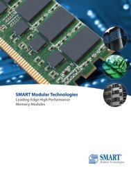 DRAM Product Line Brochure - Smart Modular Technologies, Inc.