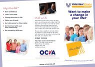 Want to make a change in your life? - OCVA