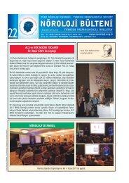 Nöroloji Bülteni Sayı 22 - Türk Nöroloji Derneği