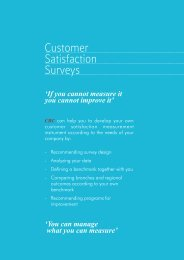 Customer Satisfaction Surveys - CBC Marketing Research