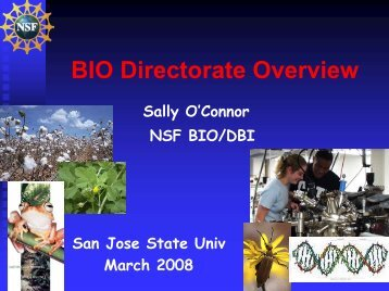 Biological Sciences - the SJSU Research Foundation Website