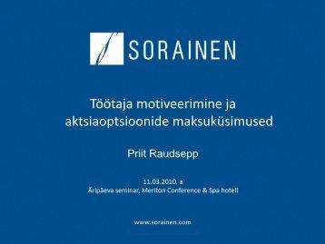 Töötaja motiveerimine ja aktsiaoptsioonide ... - Sorainen