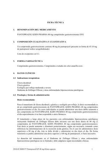 2010-03 II400 FT Pantoprazol KP 40 mg-blister ... - KERN Pharma