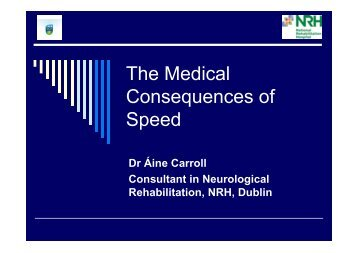Dr. Áine Carroll's presentation - Road Safety Authority
