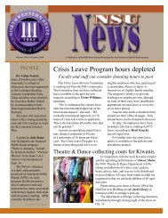 NSU News Oct.09 - Northwestern State University