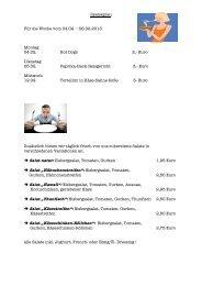 Speiseplan Für die Woche vom 04.02. – 06.02.2013 Montag 04.02 ...