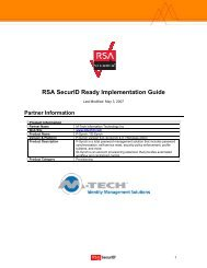 RSA SecurID Ready Implementation Guide - Emerson Community Site