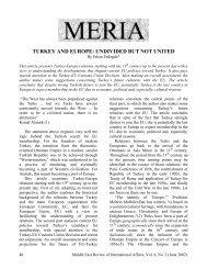 turkey and europe: undivided but not united - GLORIA Center